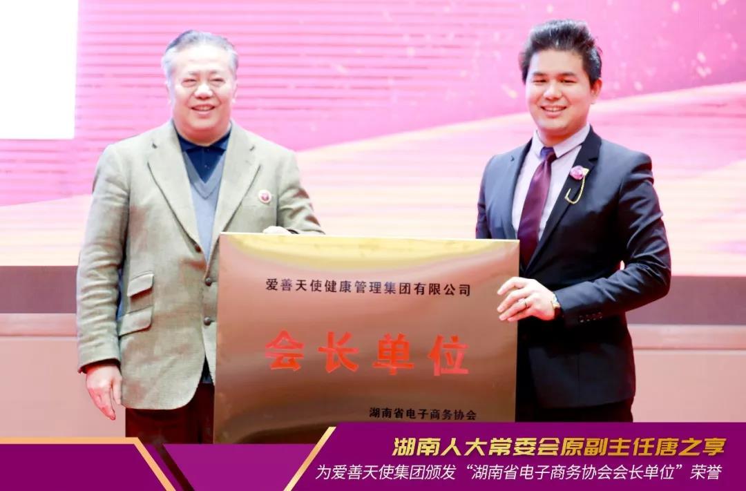 新征程丨爱善天使集团当选湖南省电子商务协会会长单位!